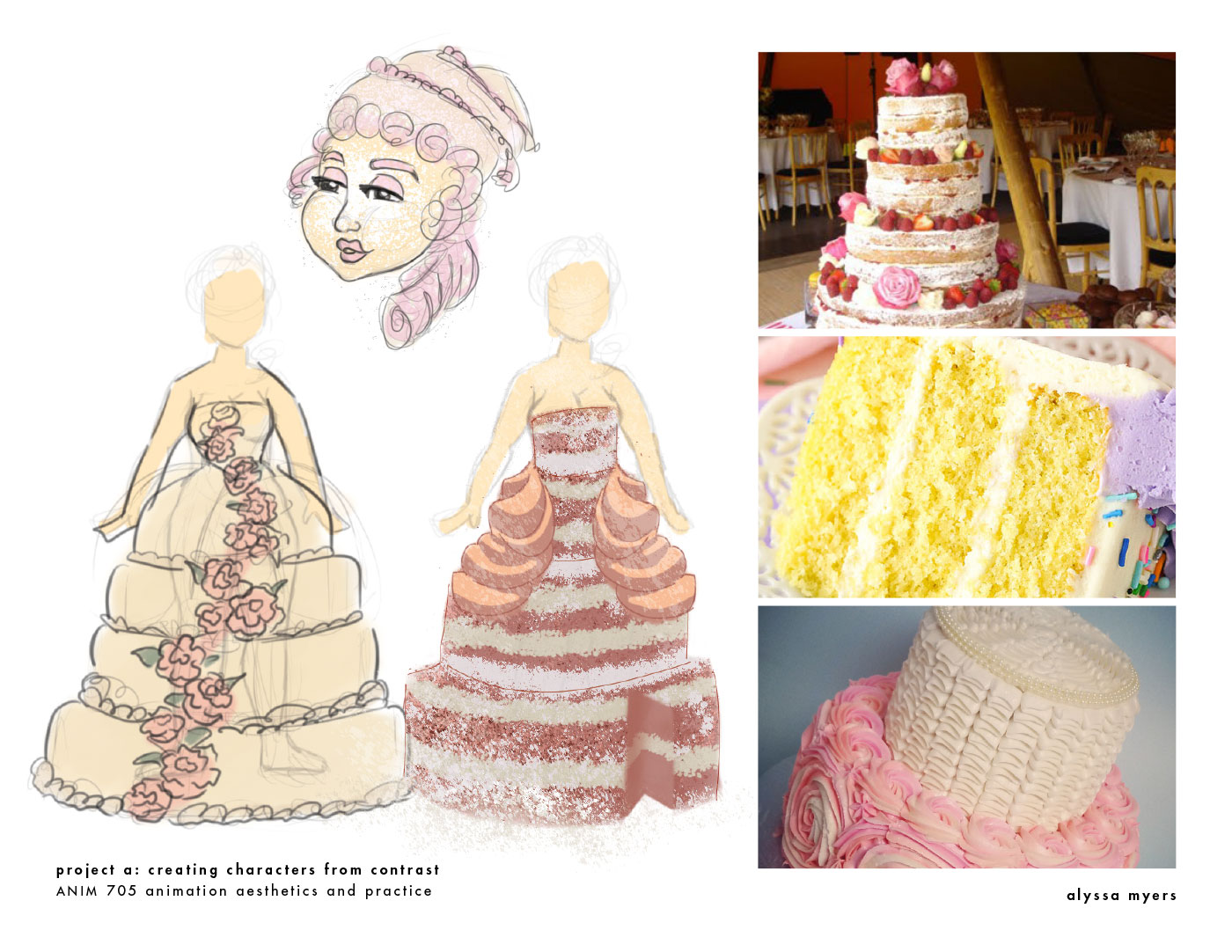 Gown exploration from pastry textures.